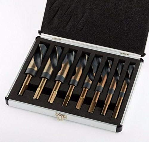 New 8pc Jumbo Silver and deming Industrial Cobalt drill bit set 1/2