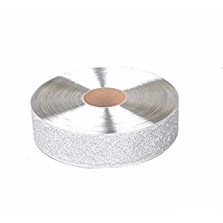 JPJ(TM) ❤️Christmas Ribbon ❤️1pcs Home Ribbon Merry Christmas Santa X'Mas Home Decor DIY Craft 100cm5cm (Silver)