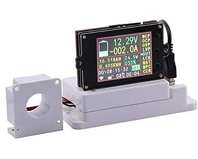 "WINGONEER Wireless Digital DC Voltmeter Ammeter Multimeter, 2.4"" LCD Voltage Ampere Power Watt Coulomb"