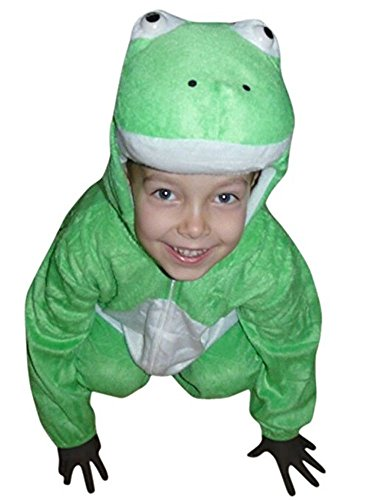Homemade Kids Frog Costumes (Fantasy World Frog Halloween Costume f. Children/Boys/Girls, Size: 6, J01)