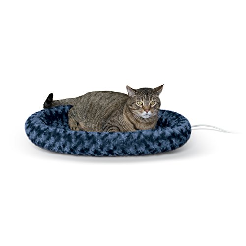 K&H Pet Products Thermo-Kitty Fashion Splash Heated Pet Bed Large Blue 16