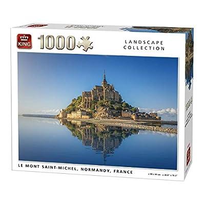 King 5711 Mont Saint Michel Puzzle Da Pezzi 68 X 49 Cm