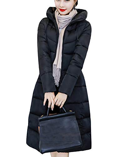 Women Long Capispalla Down Warm Shaoyao Parka Nero Imbottito Jacket Coat Thicken Overcoat Winter qwfxPPXd5