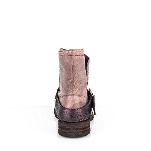 Felmini - Damen Schuhe - Verlieben King 8569 - Cowboy & Biker Stiefelette - Echtes Leather - Braun - EU: