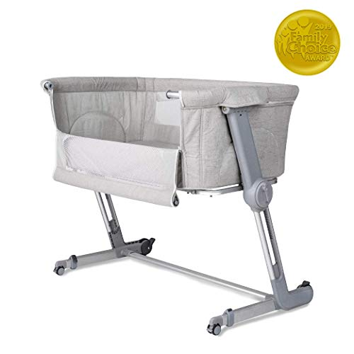 Unilove Hugme Plus, Bedside Sleeper & Baby Bassinet Includes Travel Bag, and Mattress, Shadow Grey