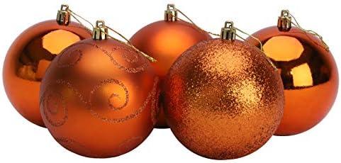 Christmas Concepts® Pack of 5 - Adornos de árbol de Navidad Extra Grandes de 100 mm - Adornos Brillantes, Mate y con Brillo (Cobre): Amazon.es: Hogar