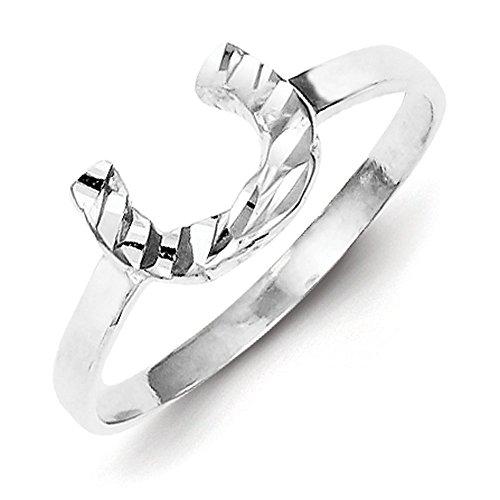 eshoe Ring - Size 8 (Silver Horseshoe Lady Ring)