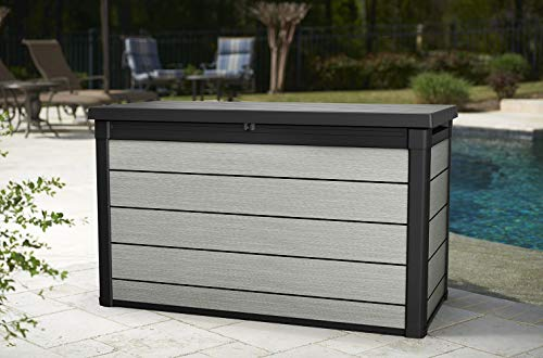 Deck Boxes Keter Denali 200 Gallon Resin Large Deck Box-Organization and Storage for Patio Furniture, Outdoor Cushions, Garden… outdoor deck boxes