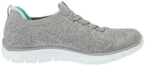 Skechers Damen Empire-Sharp Thinking Slip On Sneaker Grey/light Blue