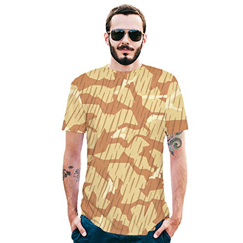 Allywit-Mens Shirts Casual Summer Camouflage Slim Fit Tee Shirt Short Sleeve Muscle T-Shirt Classic T Shirts Tshirts by Allywit-Mens (Image #2)