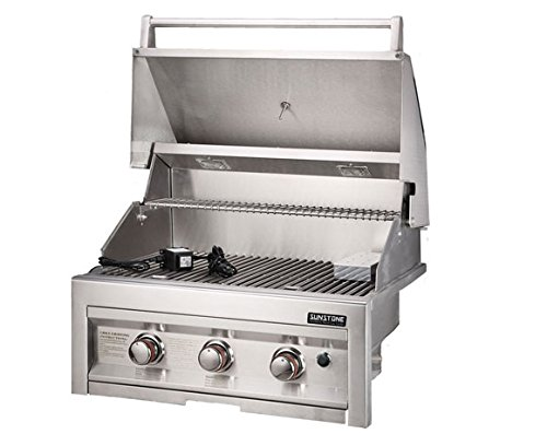"28"" Propane 3 Burner Grill with Lights SUNSTONE"
