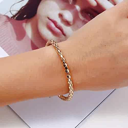LLguz Leather Magnetic Buckle Woven Multilayer Bracelet Jewelry Gift for Valentines Day,Personality Bracelets Bangle Wristband Hand Chain for Women Men Lover Party