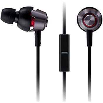 Panasonic drops360° LUXE Premium In-Ear Stereo Headphones with Mic + Controller RP-HJX21M-K (Black and Silver) Powerful Bass, with Travel Case