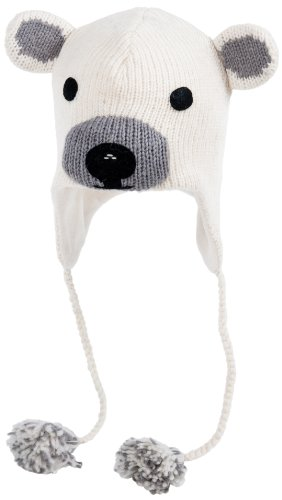 Nirvanna Designs CHPLBEAR Polar Bear Hat with Fleece , White, 5 Years
