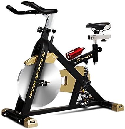Bicicleta Indoor Racer Sport, bici estática para casa, volante de ...