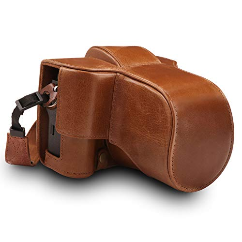 MegaGear Ever Ready Genuine Leather Camera Case Compatible with Fujifilm X-T3 (XF23mm - XF56mm & 18-55mm Lens)