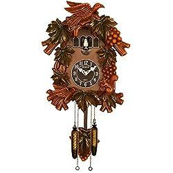 Sinix SN601 Handcrafted Antique Wooden Cuckoo Pendulum Wall Clock, Brown