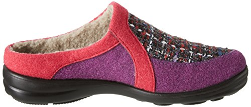 Romika Maddy H 07 - Pantuflas cálidas con forro Mujer Multicolor - Mehrfarbig (rot-multi 473)