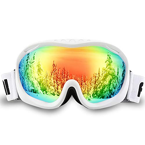 Wh Air Return (AKASO Ski Goggles an-ti Fog Double Lens Skate Glasses for Men,Women & Youth, UV Protection Windproof Snowboard Skiing Skating.)