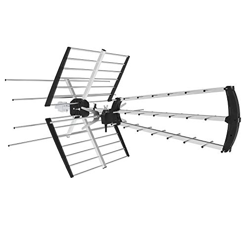 Price comparison product image Philex Digital Outdoor/Roof HDTV Antenna, High Gain VHF/UHF Combo TV Antenna, 180 Miles Range Extremely High Performance TV Antenna, 360 Degree Receive Signal