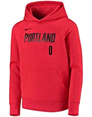OuterStuff Damian Lillard Portland Trail Blazers #0 Youth Essential Player Name & Number Fleece Pullover Hoodie (Youth Large 14/16)