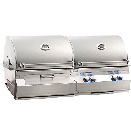 1. Fire Magic Aurora A830i Built-in Dual Propane Gas And Charcoal Combo Bbq Grill
