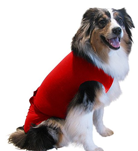 Surgi Snuggly Red - ML - EC Inventors The Original E Collar Alternative, Antimicrobial Protects Your Pet's Wounds & Bandages - Hugs Away Your Pets Anxiety, Plus It's Easy On Easy Off]()