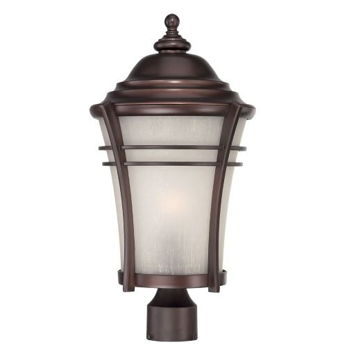 Acclaim 39627ABZ Vero Collection 1-Light Outdoor Light Fixture Post Lantern, Architectural Bronze