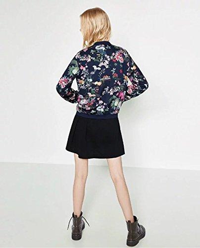 Rhouqujinh Women Back Floral Print Jacket Pilot Jackets Top Coat Chaquetas Mujer Jaket Women at Amazon Womens Coats Shop