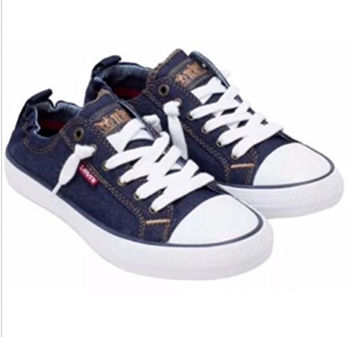 Price comparison product image Levis Girls Stan G Sneakers Comfort Tech, Size 4 (Dark Denim)