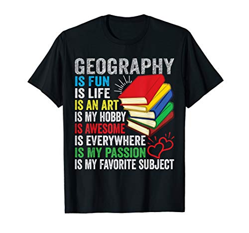 Geography Earth Science Economics Cartography Map Geographer T-Shirt (The Word Geography Was First Used By)