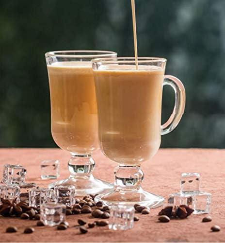 Vaso de vidrio taza de café bebida caliente café con leche ...