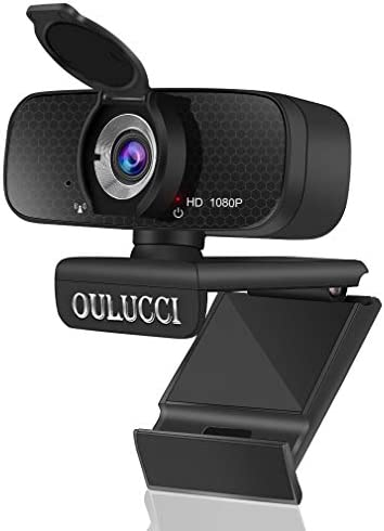 [Upgraded] New AutoFocus 1080P HD Webcam with Microphone & Privacy Cover, Plug and Play,USB for Windows Mac OS, Webcam for Online Class,Gaming, or Video Calling Recording Conferencing