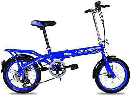 XQ Bicicleta Plegable para Niños 16 Pulgadas Adulto Velocidad 6 ...