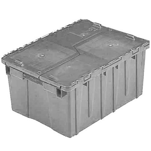 ORBIS FP075 Flipak Distribution Container - 19-11/16 x 11-13/16 x 7-5/16 Gray - Lot of 6