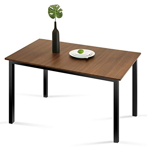 Homury Kitchen Dining Table Rectangular Modern Wood Computer Desk Office Conference Pedestal Desk Studio Collection Soho Table,Brown