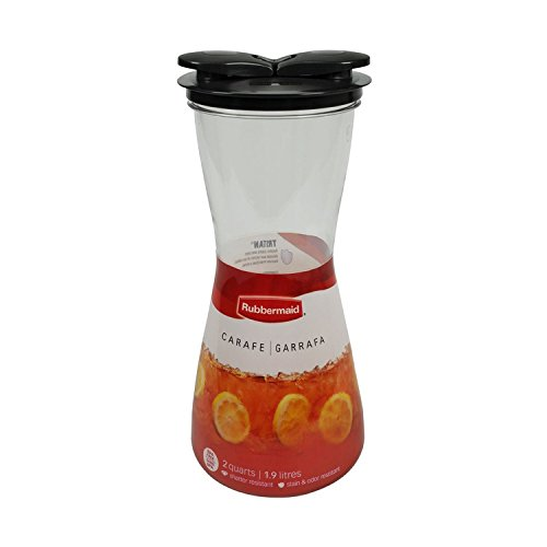 (Rubbermaid 2 Piece Carafe with Leak-Proof Lid, (2 Pack), 2-Quart Each)