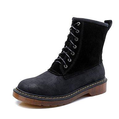 LFNLYX Mujer-Tacón Robusto-Botas Anfibias-Botas-Exterior / Casual-Cuero-Negro / Amarillo / Gris gray