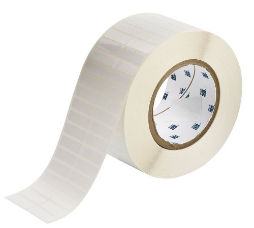 Brady THT-29-423-10 1.25'' Width x 0.375'' Height, B-423 Permanent Polyester, Gloss Finish White Thermal Transfer Printable Label (10000 per Roll) by Brady