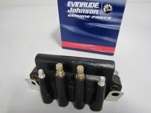 Johnson/Evinrude/OMC/BRP OEM Dual Spark Plug Ignition Coil 583740, 0583740