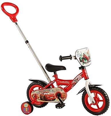 Disney Bicicleta Infantil con Ruedas de Entrenamiento y Barra de ...