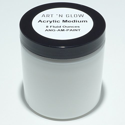 (Acrylic Paint Medium for Glow Powder and Other Pigments - 8 Ounces)
