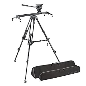 Libec ALX S8 Slider System, Includes Tripod, Fluid Head with Pan Handle, ALX S8 Slider, RC-20 Case, ALX S8 Slider Case