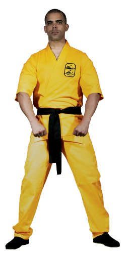 Bruce Lee Yellow Karate Suit Adult Costume - Karate Gi Costume
