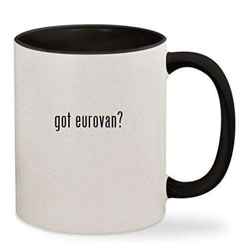 got eurovan? - 11oz Colored Inside & Handle Sturdy Ceramic Coffee Cup Mug, Black (Egr Headlight Covers)