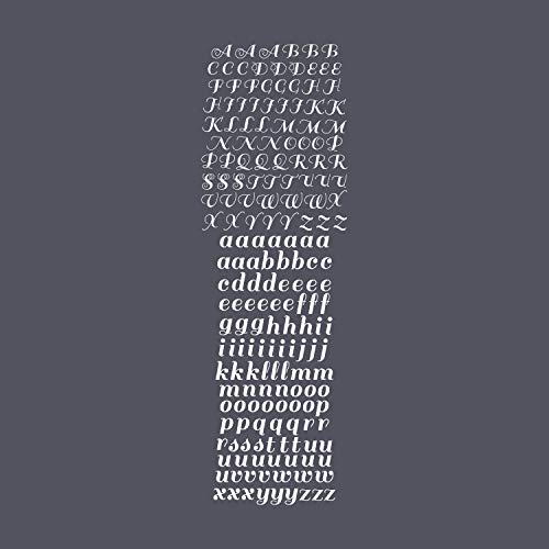 Vinyl Wall Art Decal - Cursive Alphabet Set Uppercase Lowercase - From 2
