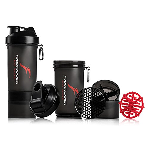 FrontRunner Fitness Premium Refuel Shaker - Protein Shaker - Water Bottle - 800mL (Black)
