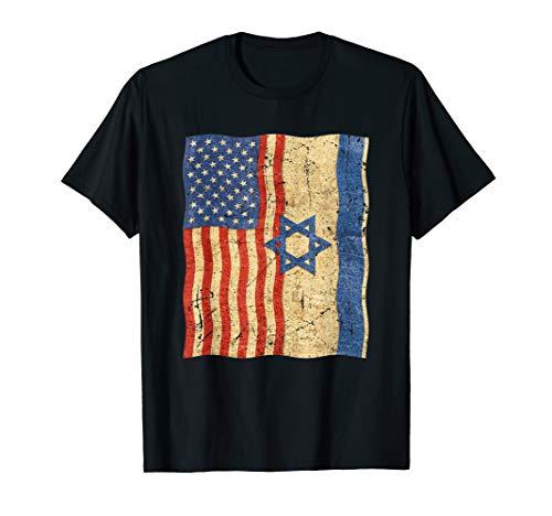 Israel Flag T-shirt - Flag of Israel and flag of USA, Israel Patriotic T shirt