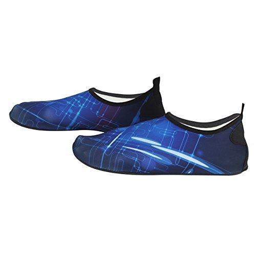 Dodoing Water Shoes Uomo Donna Quick Dry Sport Aqua Shoes Unisex Scarpe Da Nuoto Per Nuotare, Camminare, Yoga, Lago, Spiaggia, Giardino, Parco, Guida, Canottaggio Blu # 1