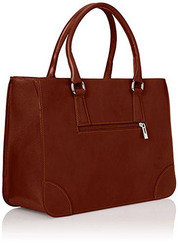 100 cuir véritable classique Marron 36x26x18cm CTM élégante et de femme in Italy Marrone sac Made de italien style qxpvxP7A4w
